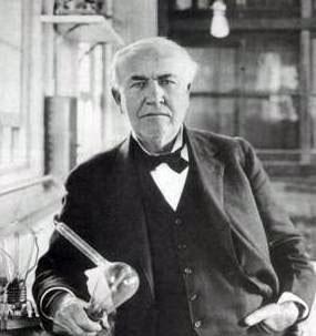 ادیسون خالق لامپ